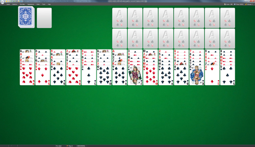 Forty Thieves Four Decks Solitaire