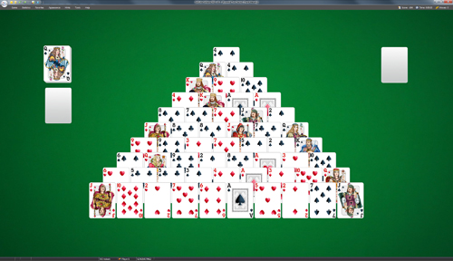 Pyramid Two Decks Solitaire