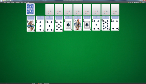 pider One Suit Solitaire